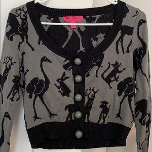 Betsey Johnson Zoo Sweater